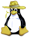 [Penguin with a straw hat]